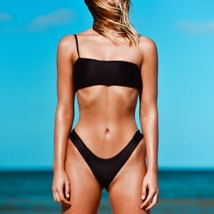 Frankie Swimwear Barbados Bottoms Black